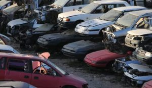 different types of scrap cars