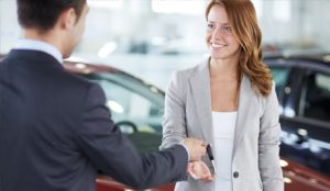 Pay cash for car to client